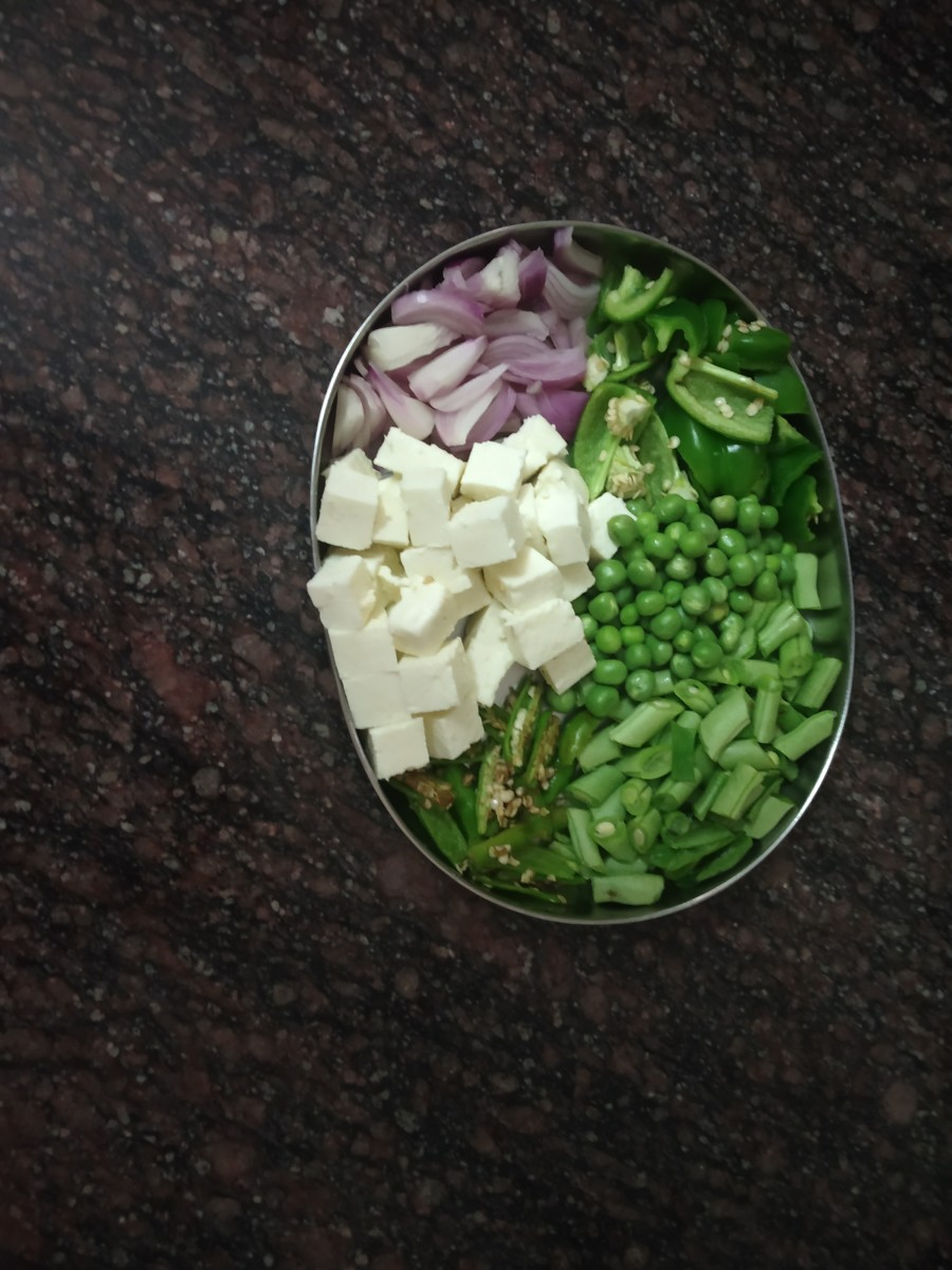 vegetables for pulav