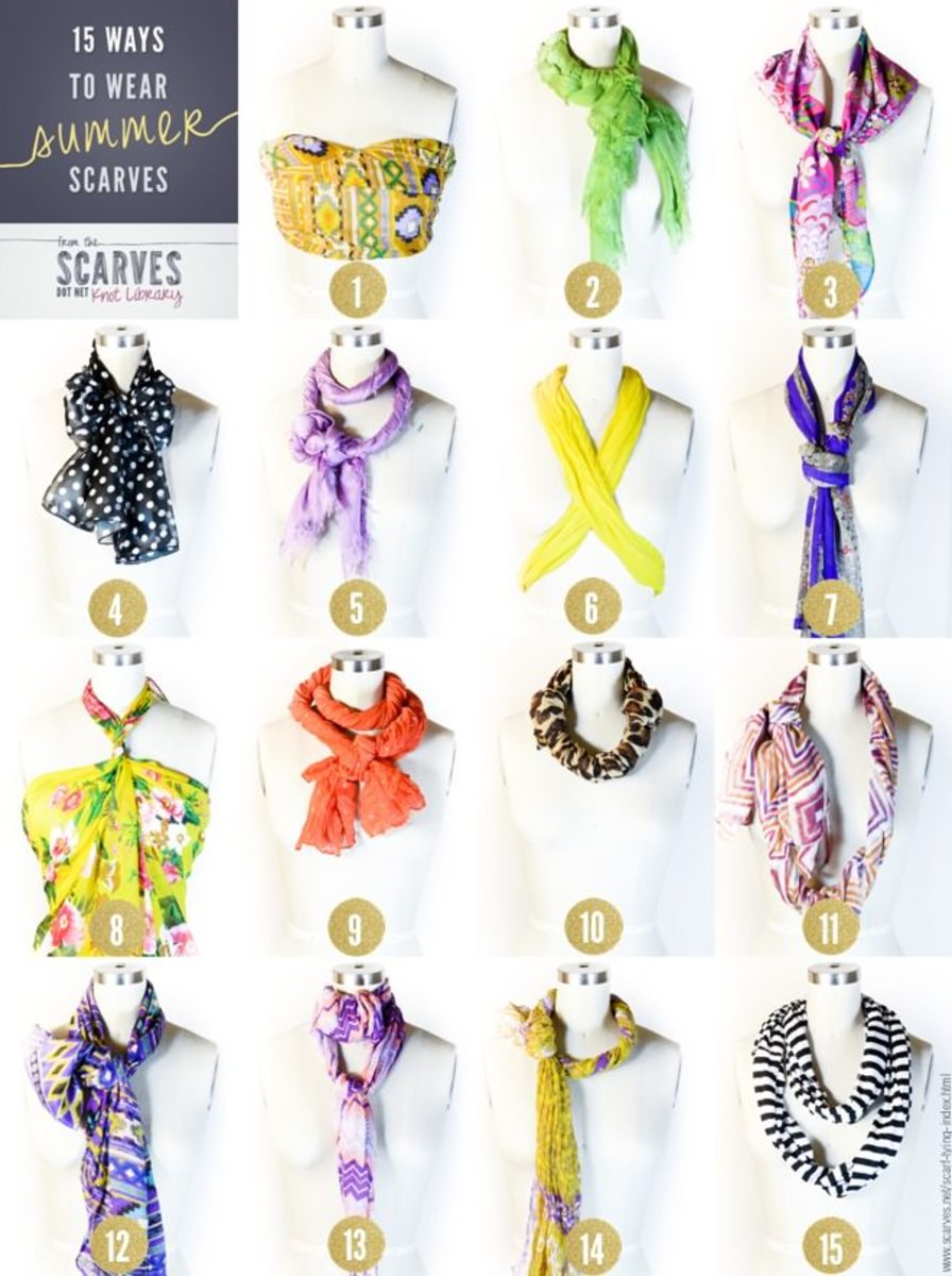 silk scarves the best summer accessory