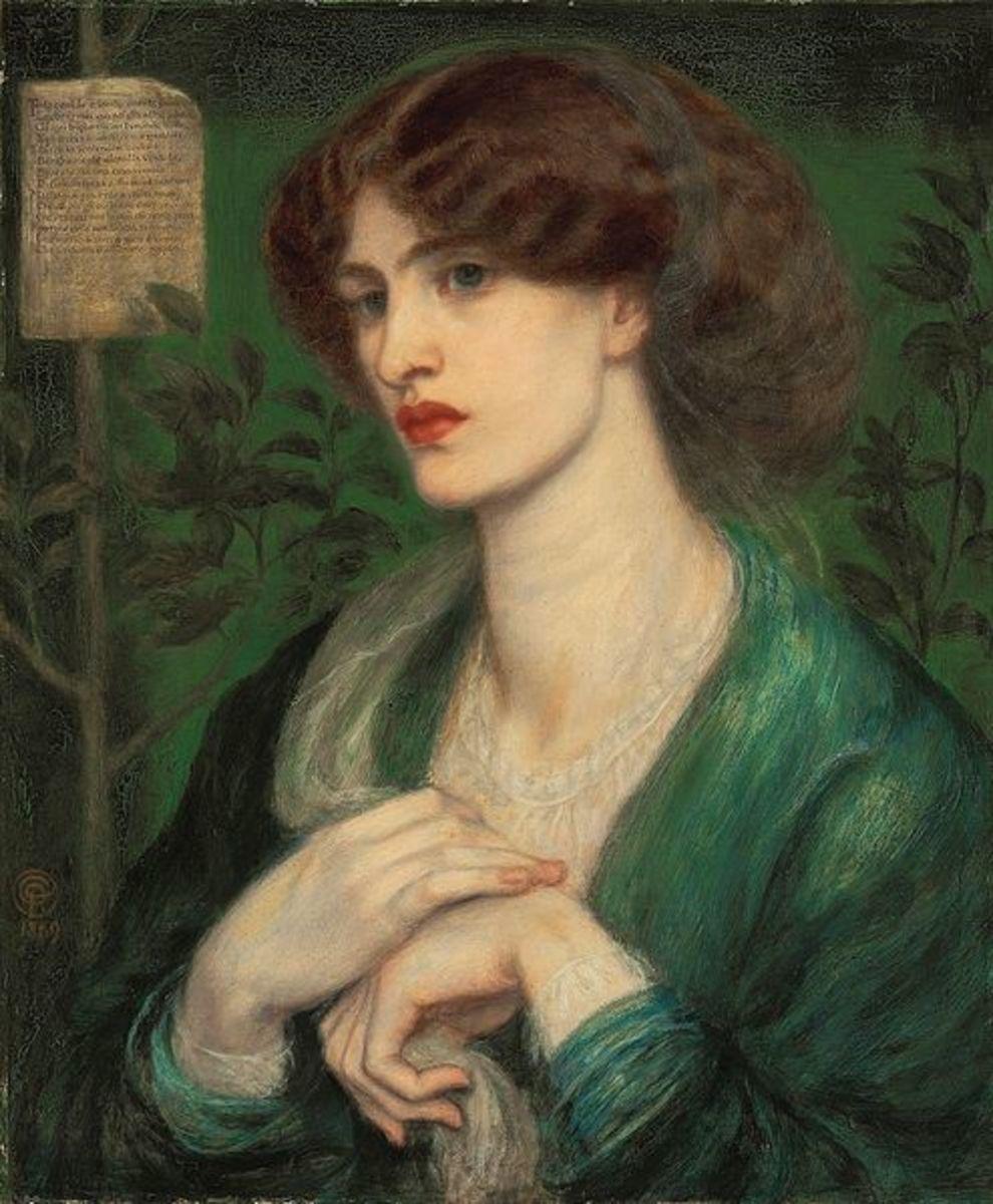 The Salutation of Beatrice circa 1869 Model:  Jane Burden Morris