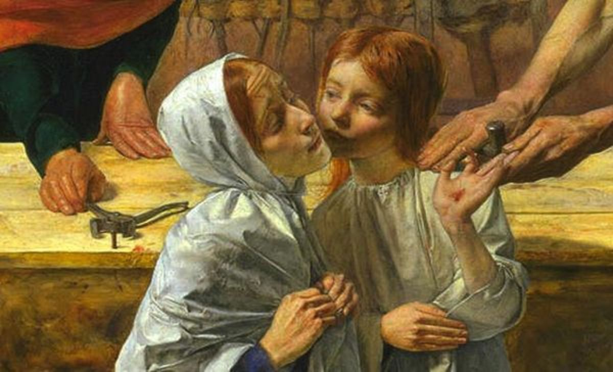 """""""Christ in the House of His Parents"""" John Everett Millais c. 1849"""