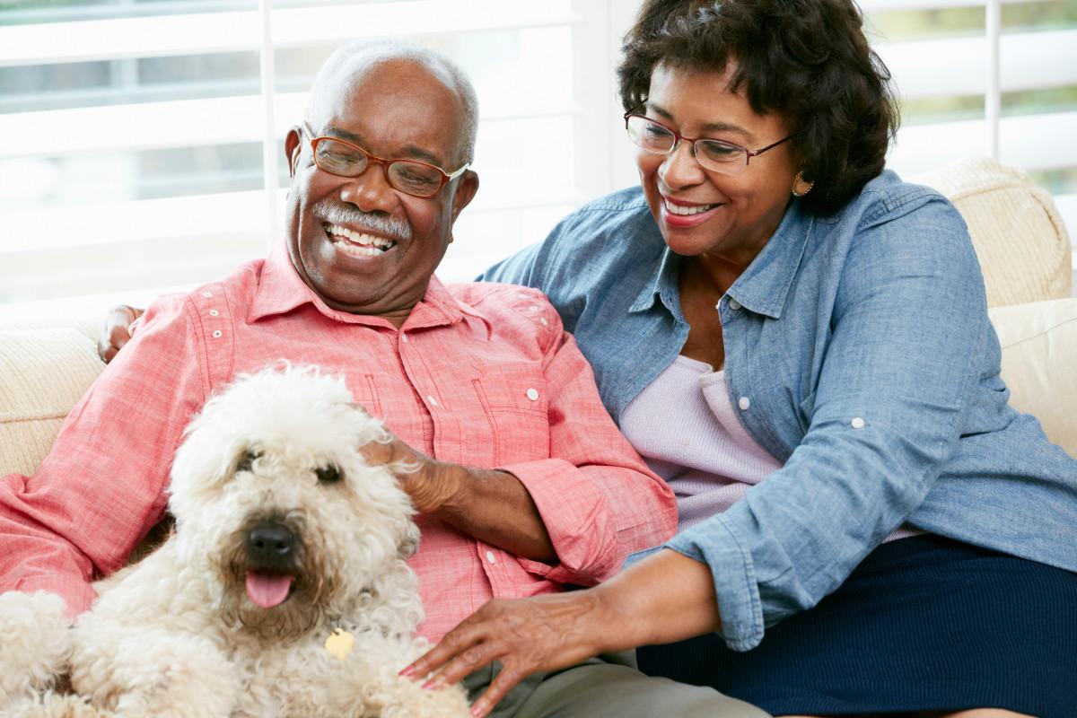 Senior Couple with Pet