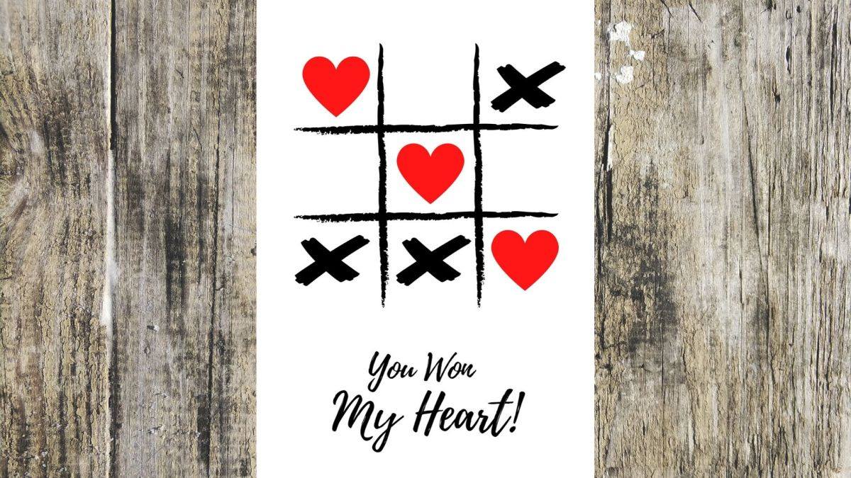 Game of Hearts Greeting Card