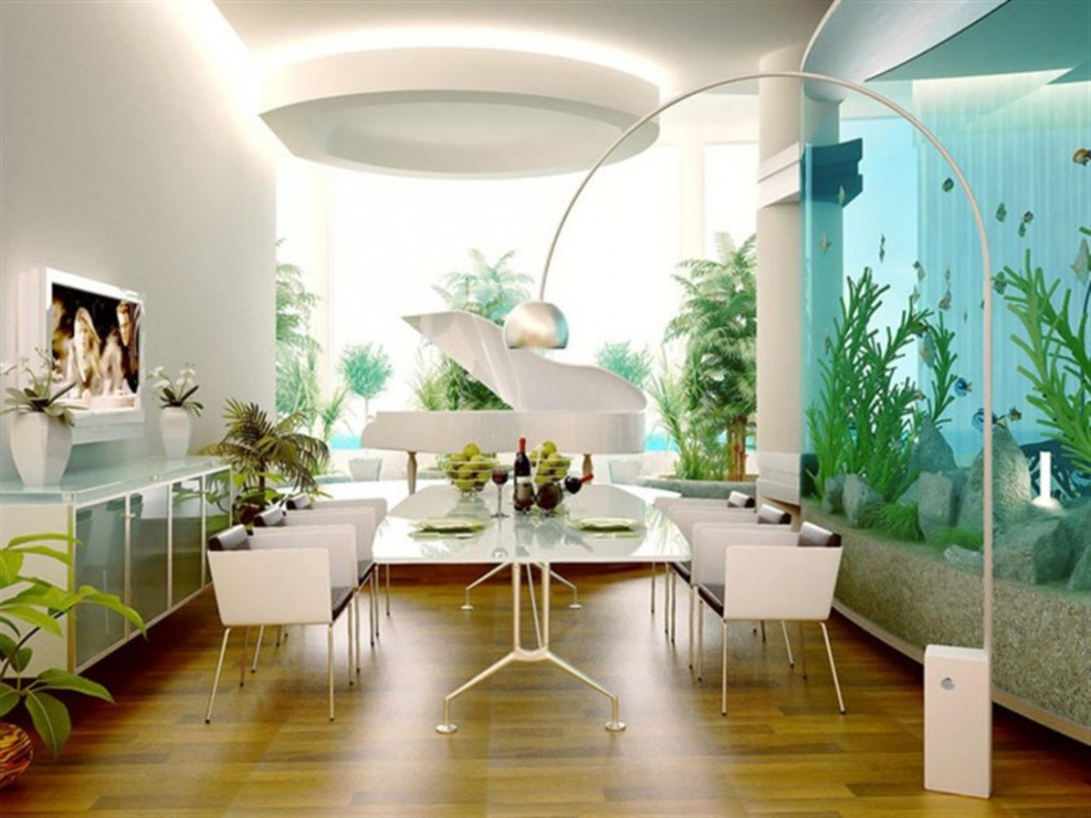 Looks for ways you can make a room pop with circles, ovals, and rounded edges.
