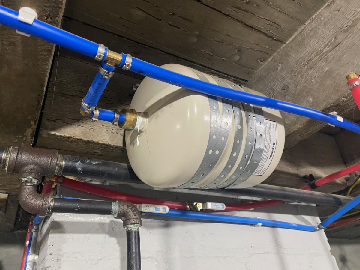 Typical expansion tank.