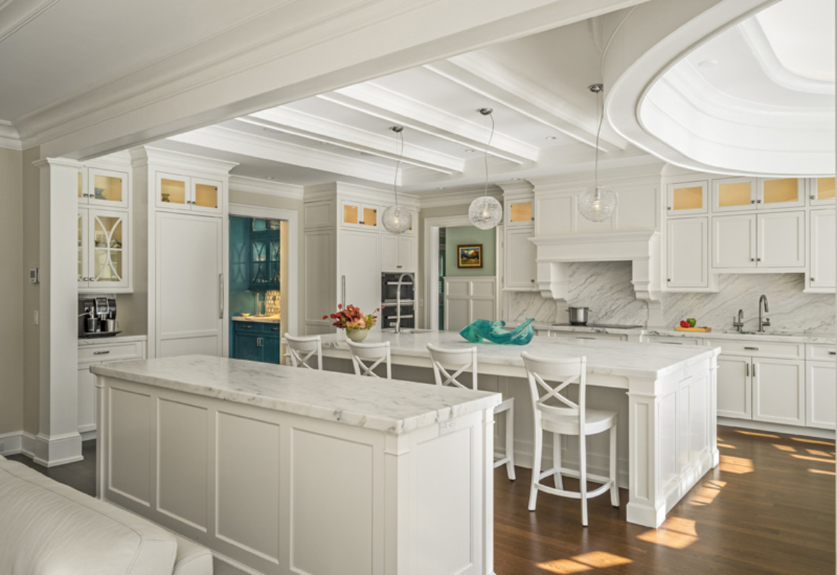 Keep things modern in the kitchen. A mix of green and white is perfect for Gemini in any room.