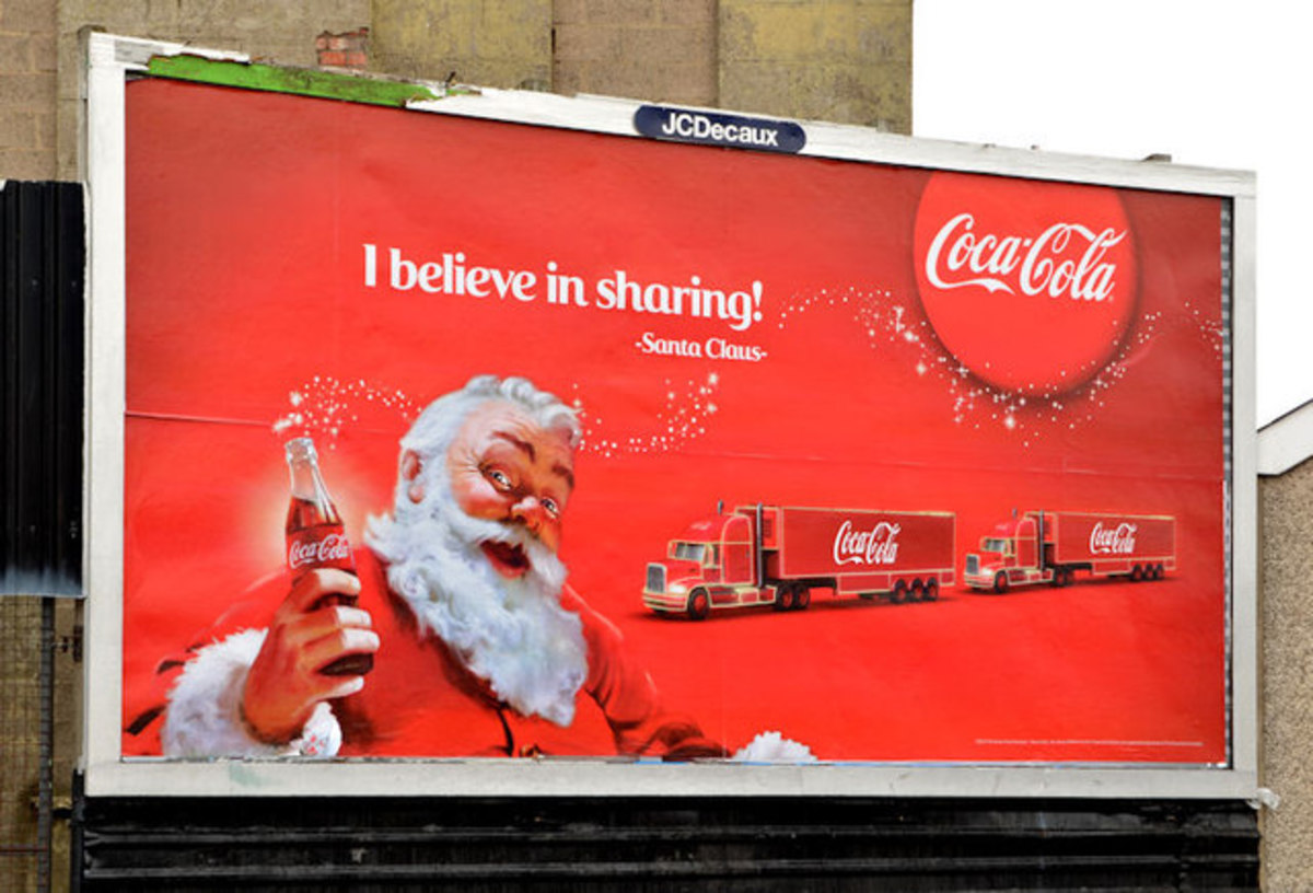 The Coca-Cola Company has featured artists' depictions of Santa Claus in its advertising since the 1920s.