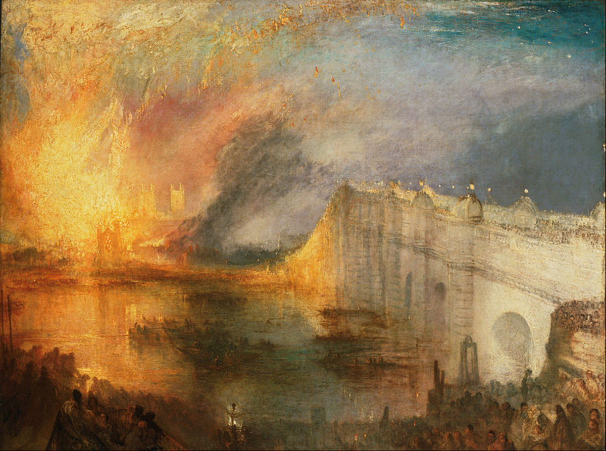 The Burning of the Houses of Lords and Commons, Joseph Mallord William Turner