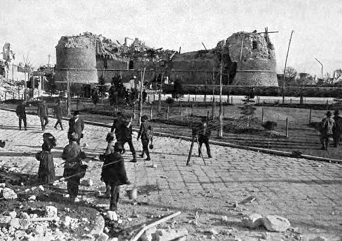 The aftermath of the 1915 Avezzano earthquake