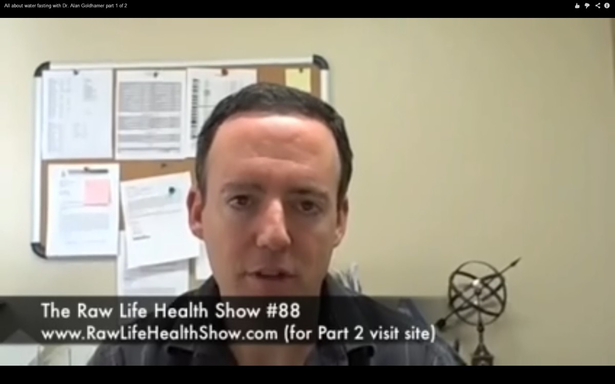 Dr. Alan Goldhamer (D.C. Doctor of Chiropractic) talks about fasting on video below.
