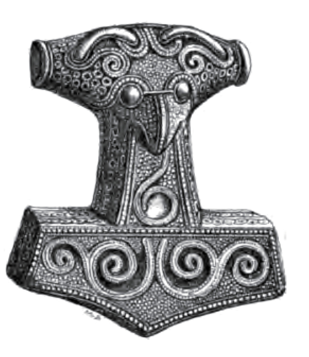 Thor's Hammer - Mjoellnir - from Skaane, present day south-western Sweden. formerly Danish territory