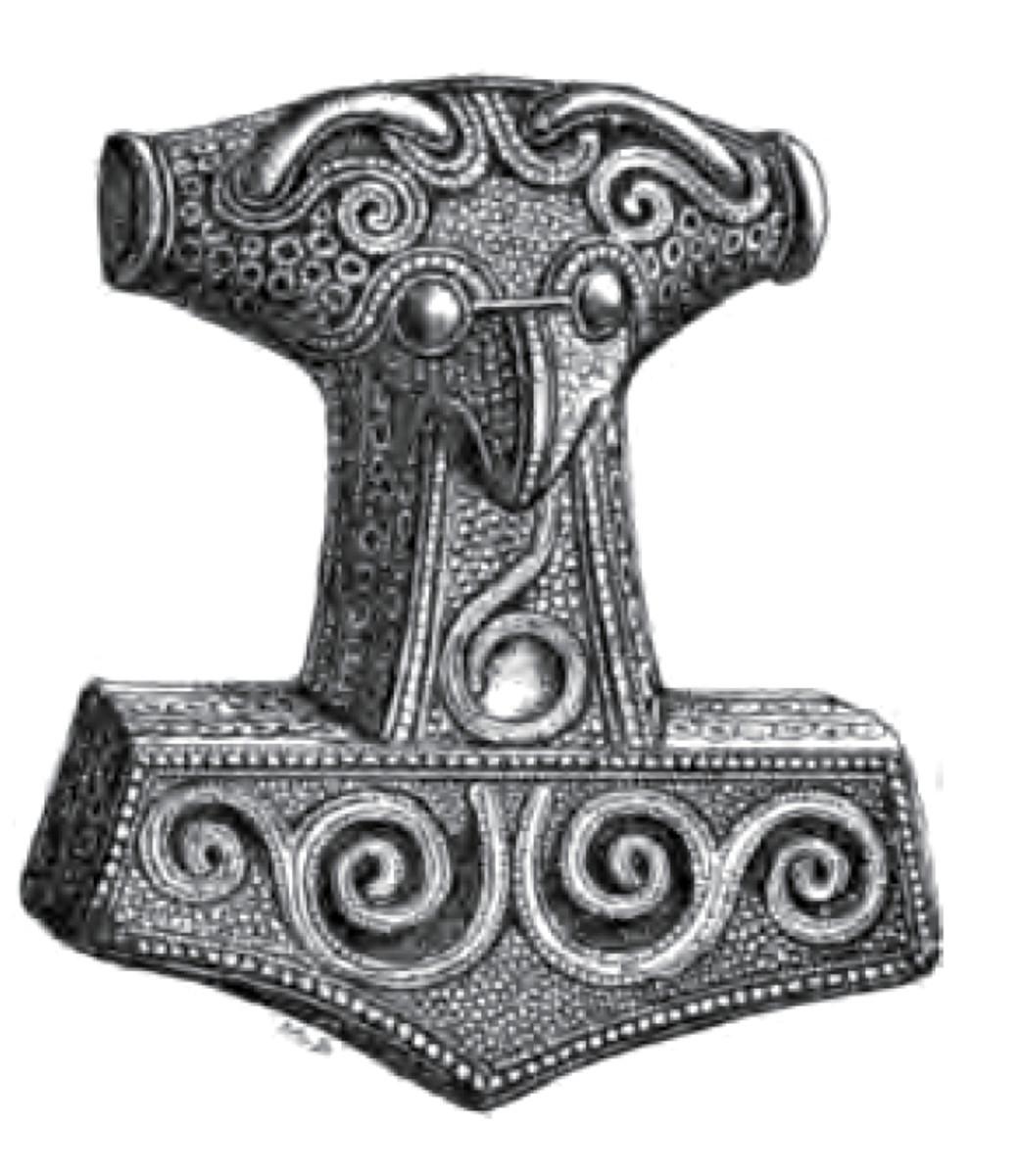Thor's Hammer - Mjoellnir - from Skaane, present day south-western Sweden. formerly Danish territory
