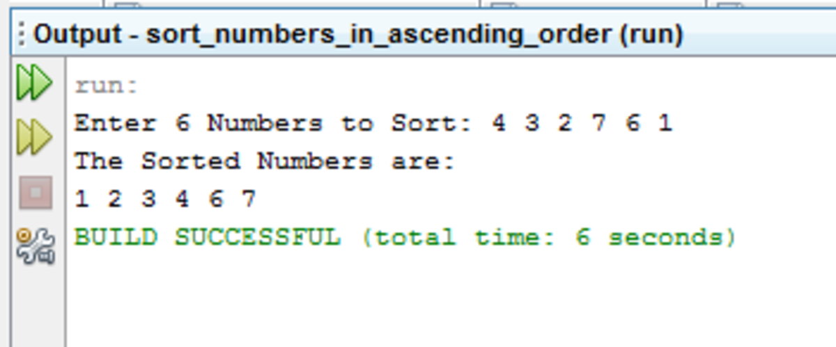 Java Source Code in Sorting: How to Sort Numbers in Ascending Order