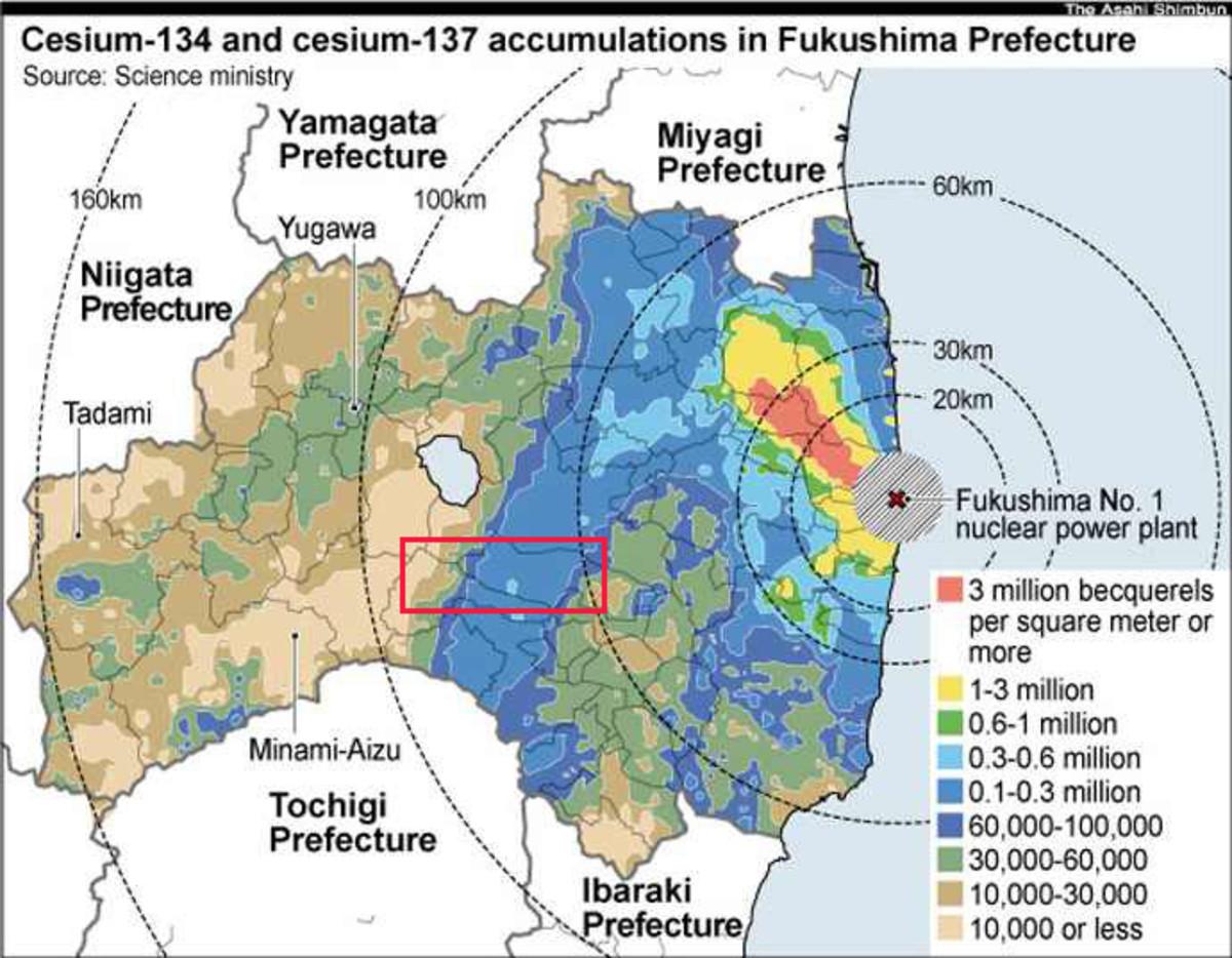 Cesium-137 in Sukagawa - Fukushima