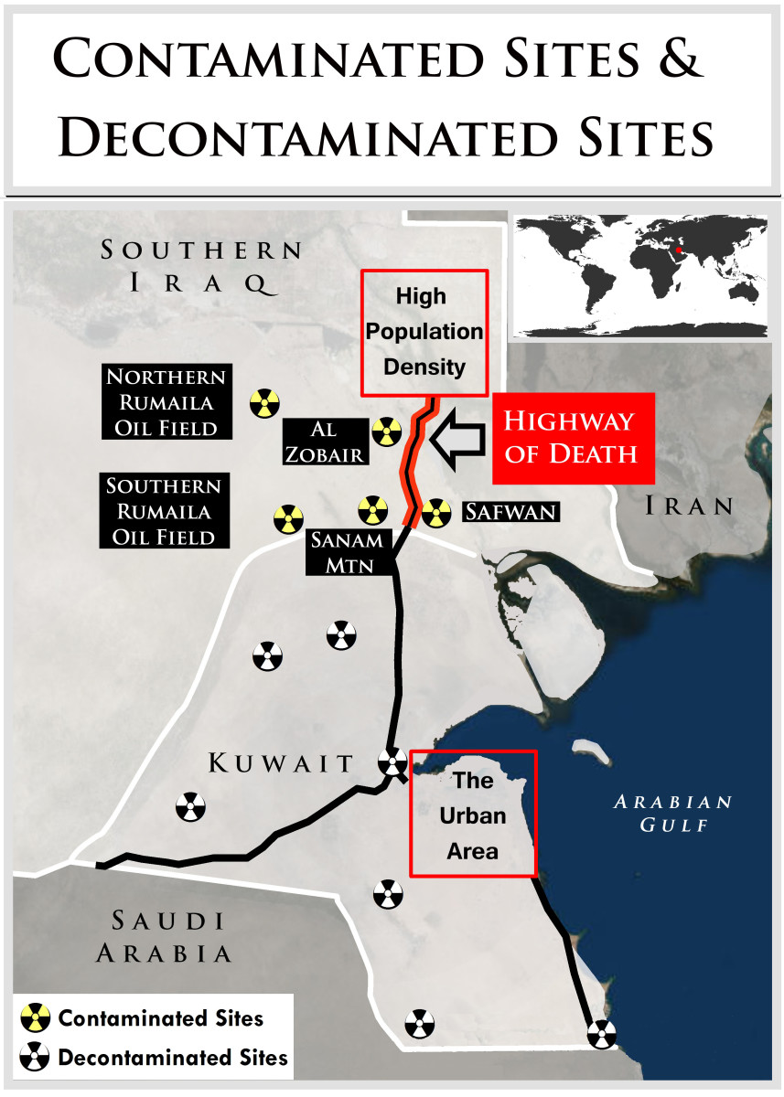 Kuwait decontaminated the DU of the Gulf War 1991,from its lands.