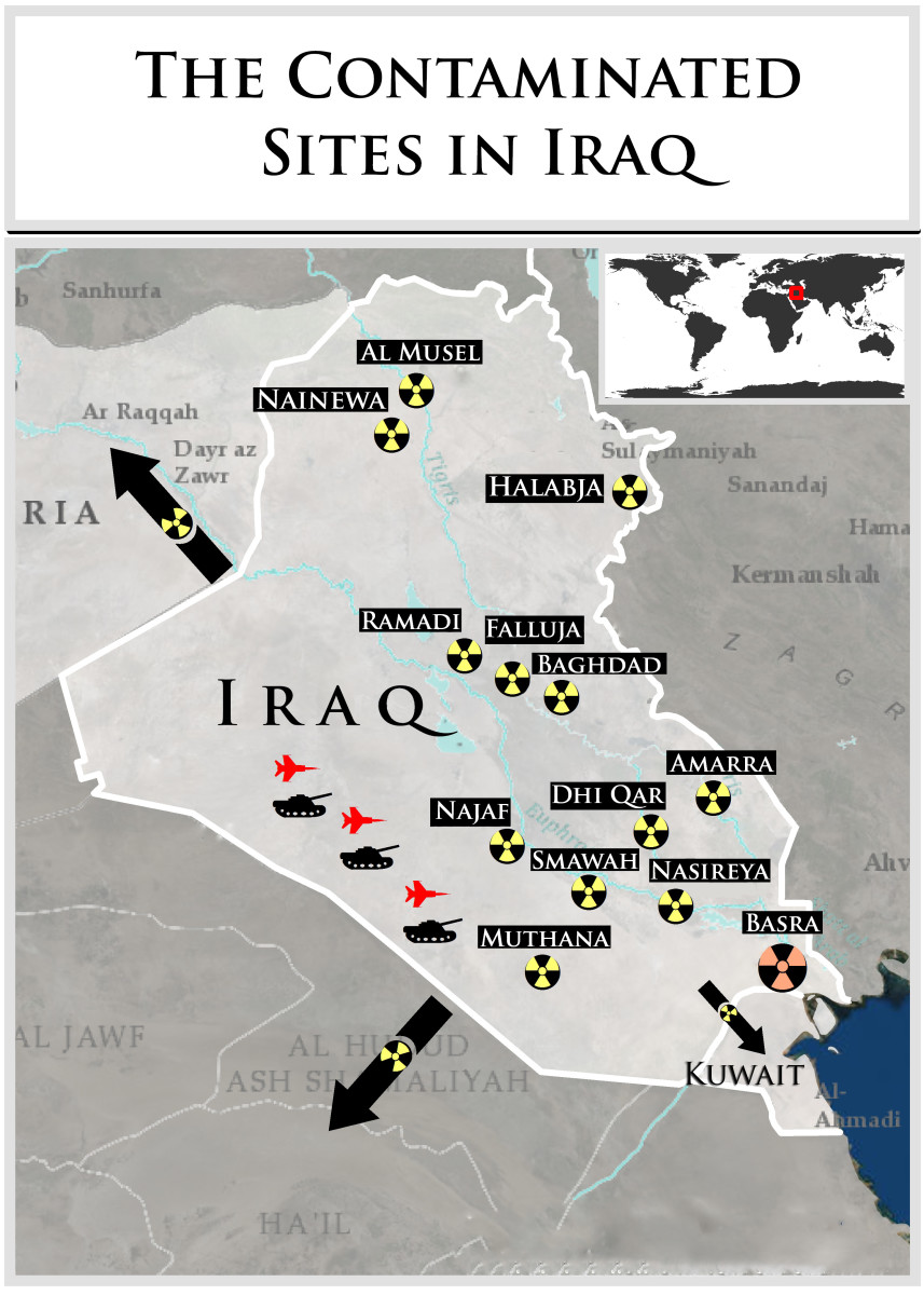 Basra is the highest site of 42 sites that have been declared high risk
