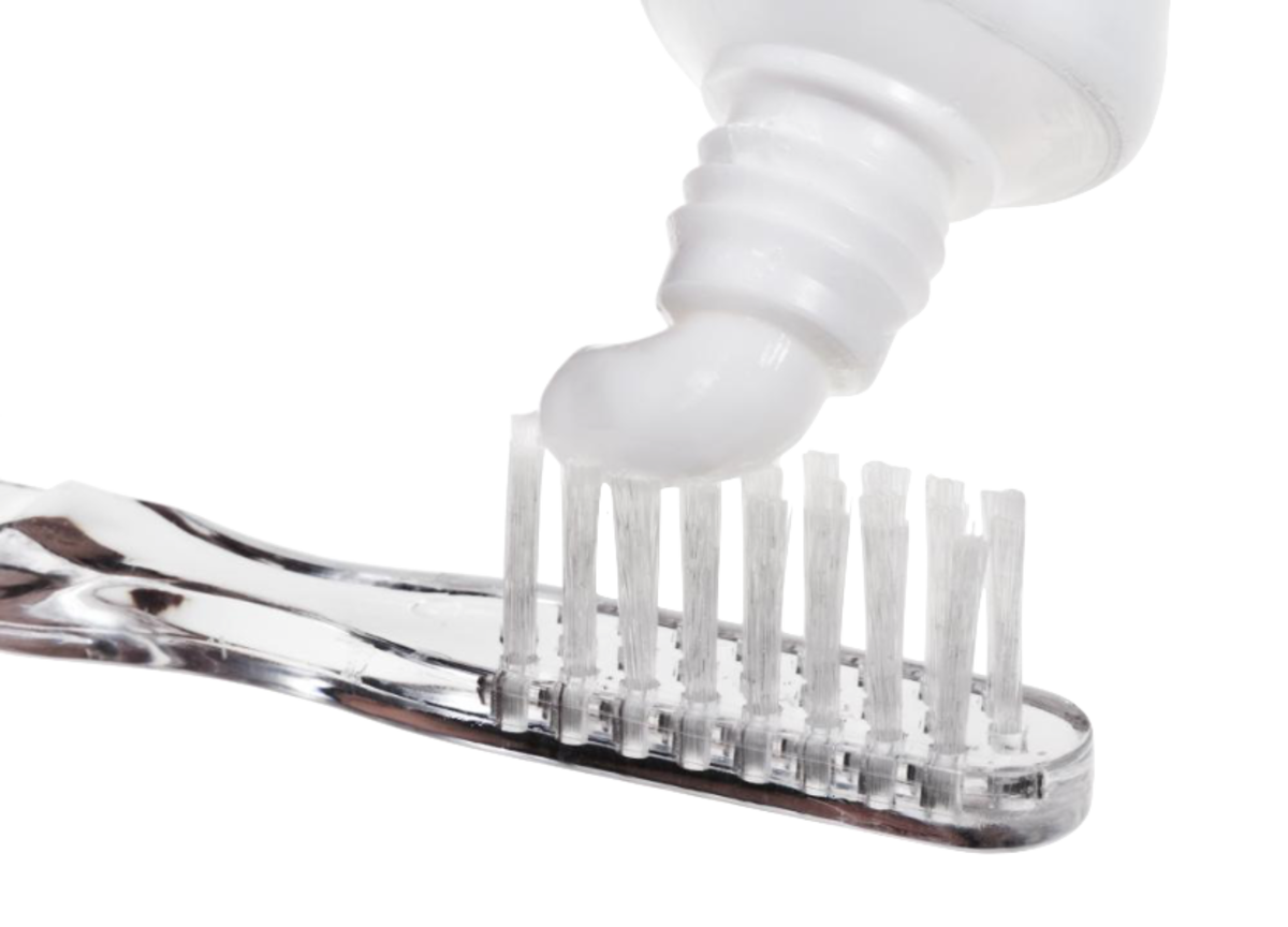 Dip your toothbrush into some hydrogen peroxide, add toothpaste and then add baking soda. If you do not want to use toothpaste, you do not have to. Simply, put baking soda on your toothbrush and brush.