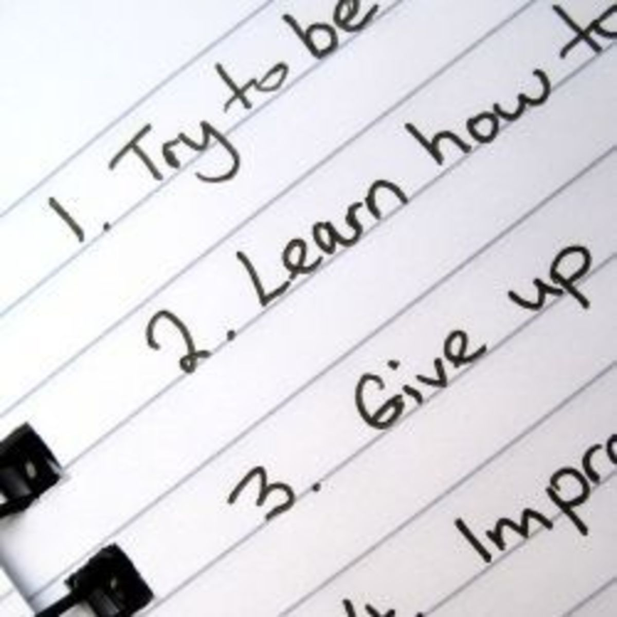 The Ten Top New Years Resolutions for 2014 - Trying to Improve