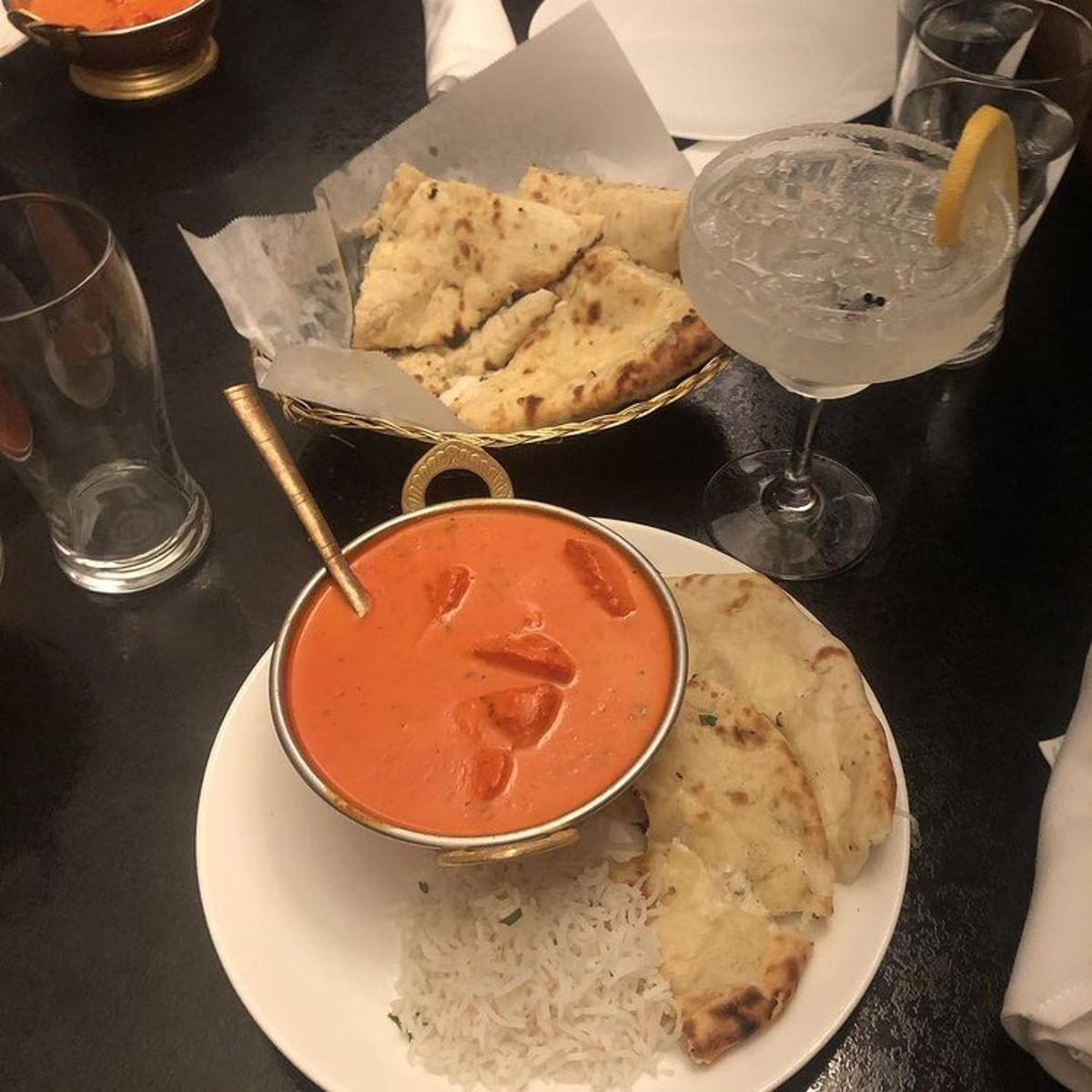 Butter Chicken and Naan are two of my favorite foods on the planet! Who cares if they have a lot of carbs and calories?