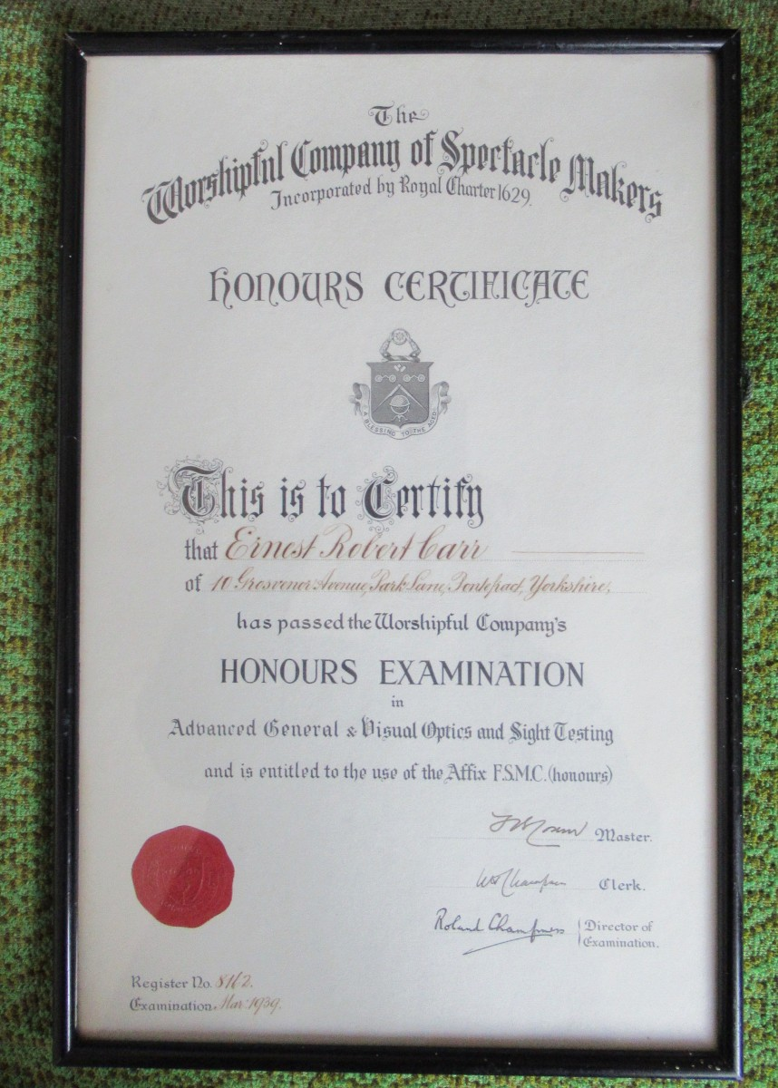 Family History in an Object: Framed Optical Qualification, Optical Trial Case and a Daughter's Memories