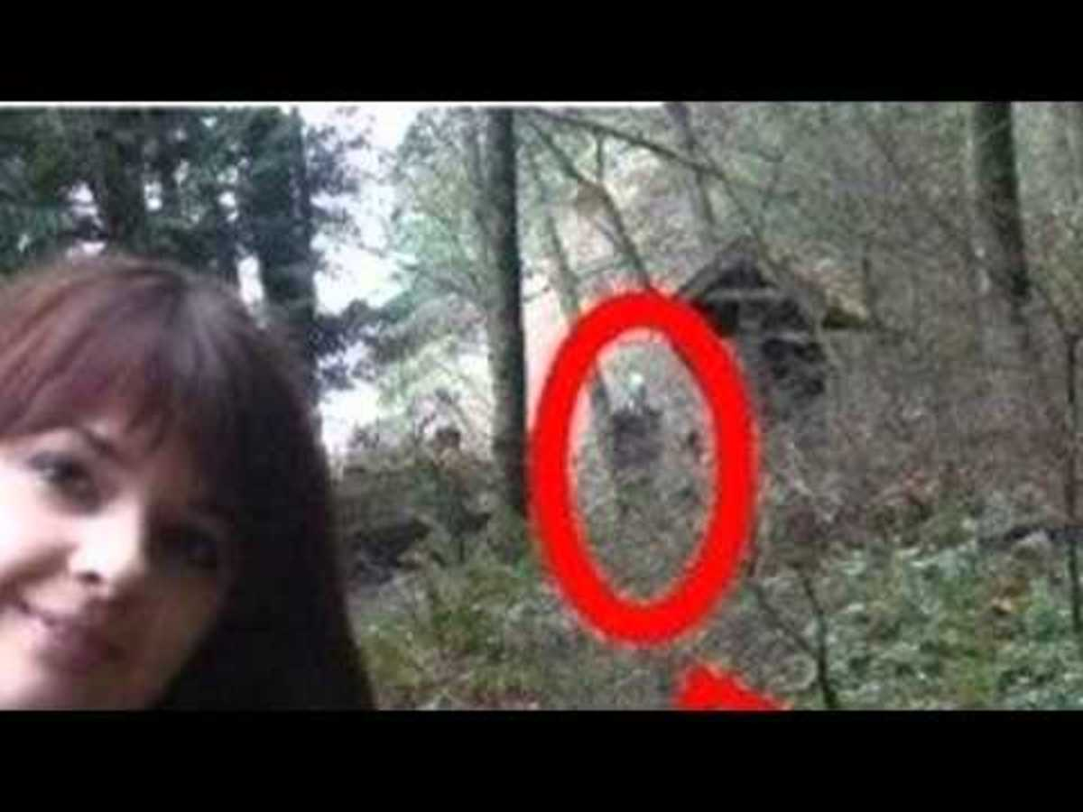 Slender Man sighted in the background of this photo.