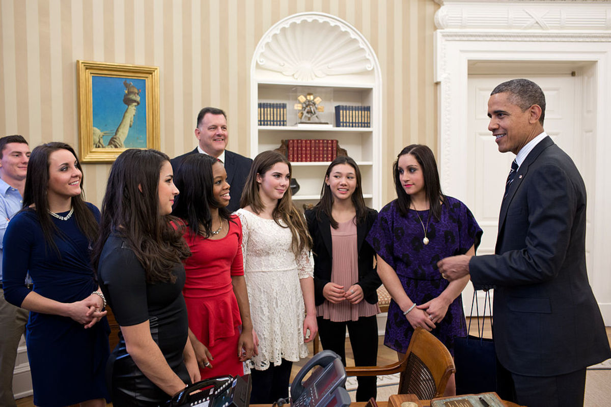 Winning the Olympic all-around gold medal for the USA earns athletes a trip to the White House to meet the president of the United States.