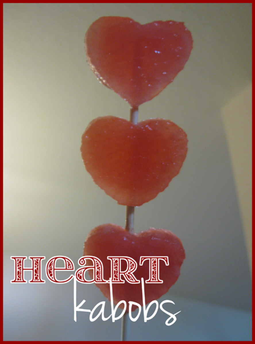 watermelon heart kabobs for valentines day