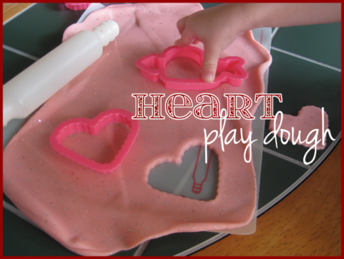 heart homemade play dough valentines day activities for kids