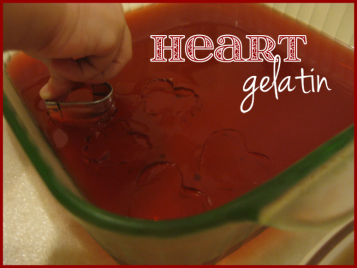 heart homemade gelatin valentines day activities for kids