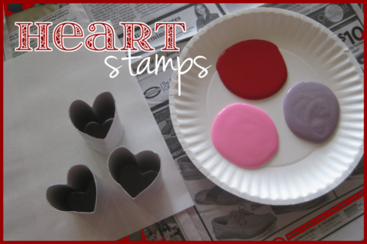 heart stamp painting valentines day activities for kids