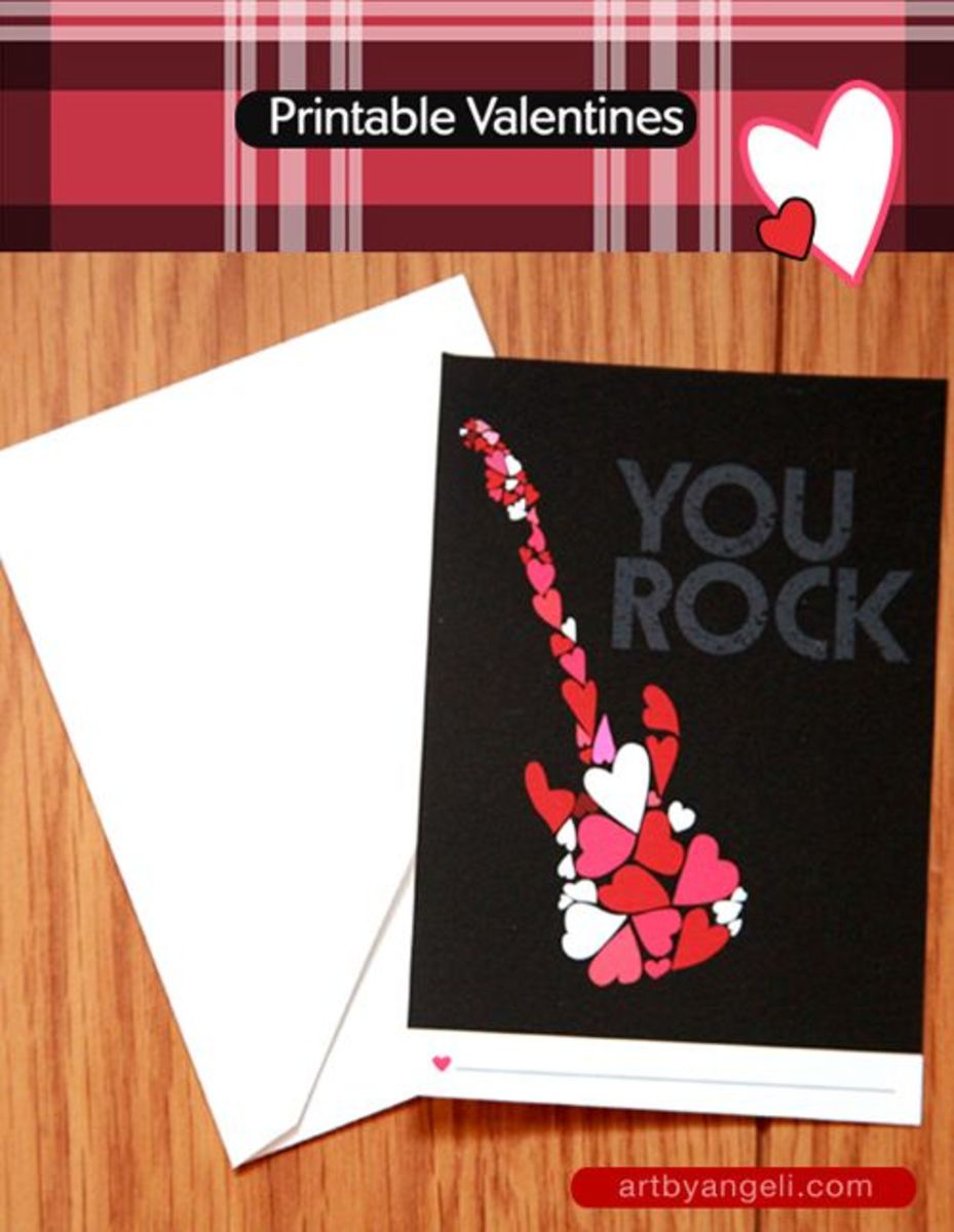 """Living Locurto is where you can find the templates for these cute """"You Rock"""" cards."""