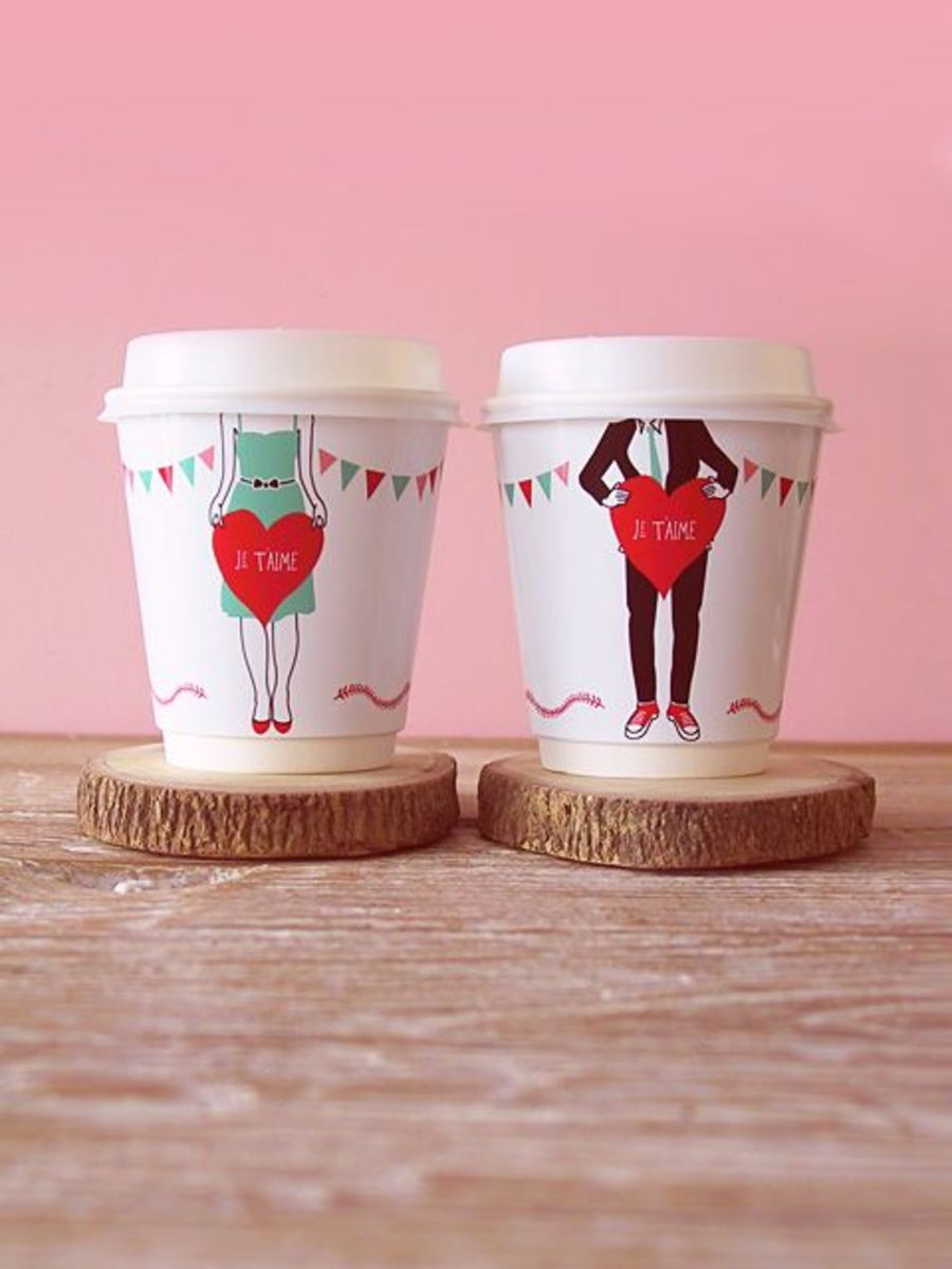 These coffee cup wrappers will send that special person an I Love You message in a sweet and unique way.