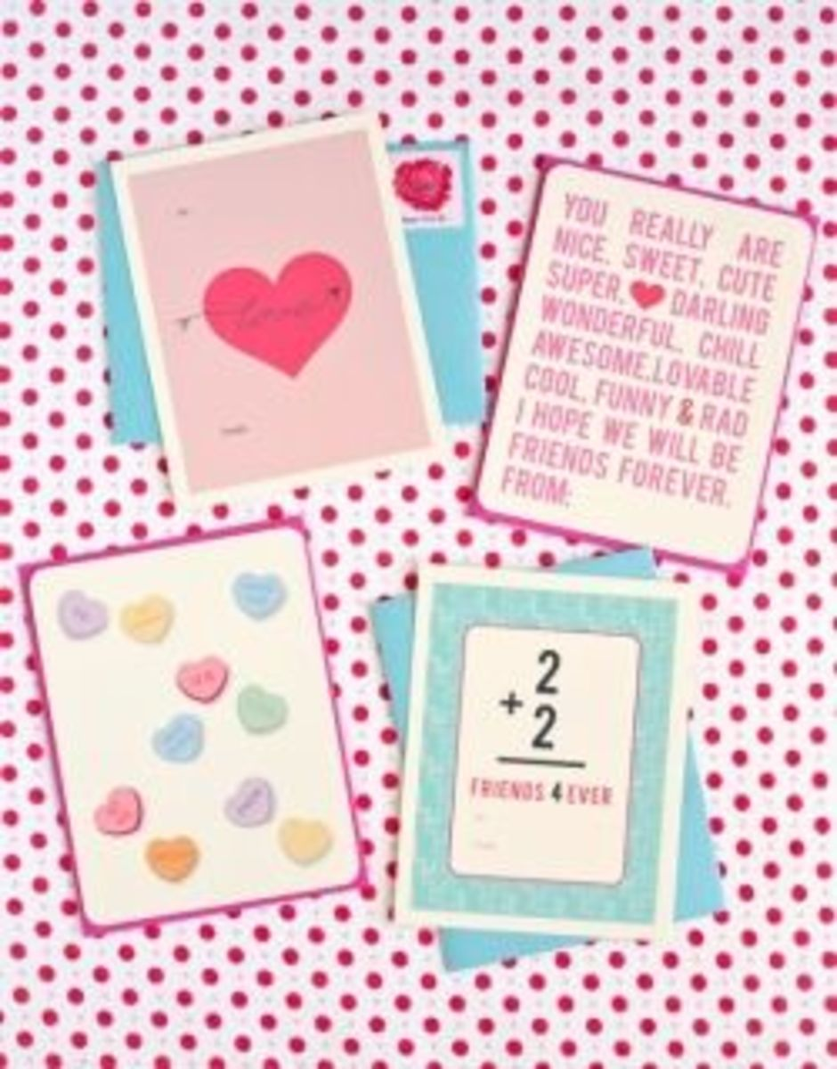 Here's Where You Can Find A Printable Template To Make These Sweet Cards That Say It All.  Photo Credit: OneCharmingParty.Com