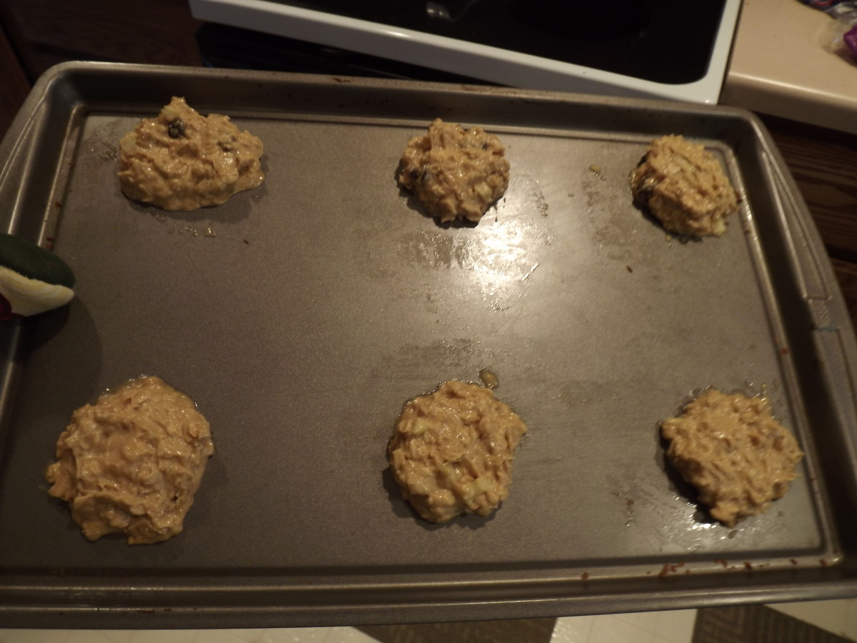 Cookies ready for the oven.