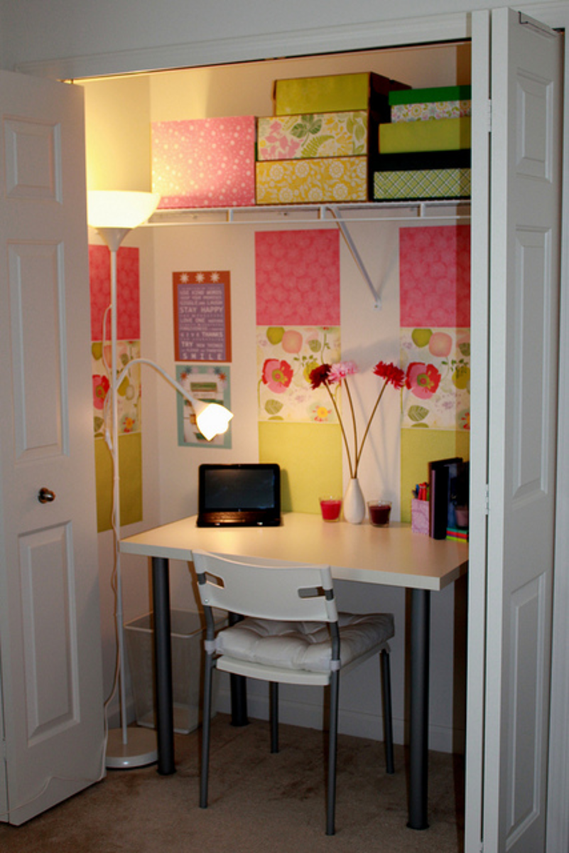 Great idea when you have limited space - and you can just hide everything away behind the door when you have finished!
