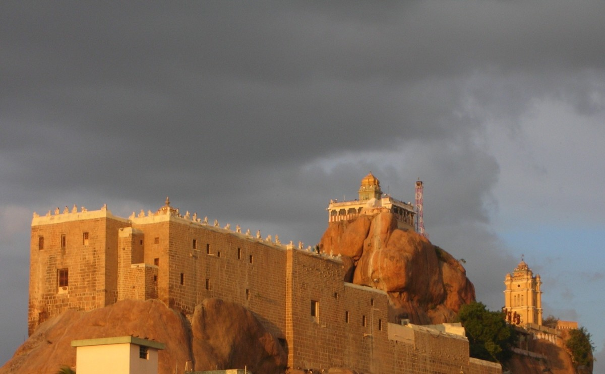 A view of Rock Fort Temple
