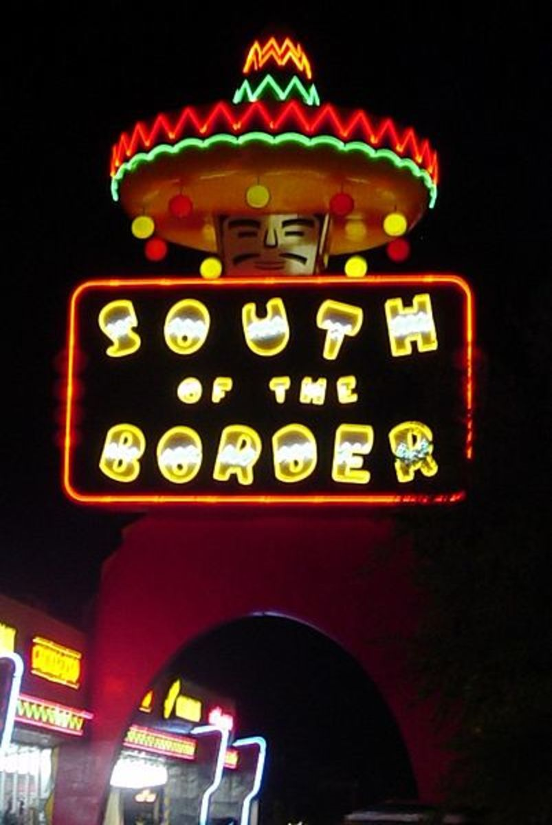 South of the Border sign, in Dillon, South Carolina