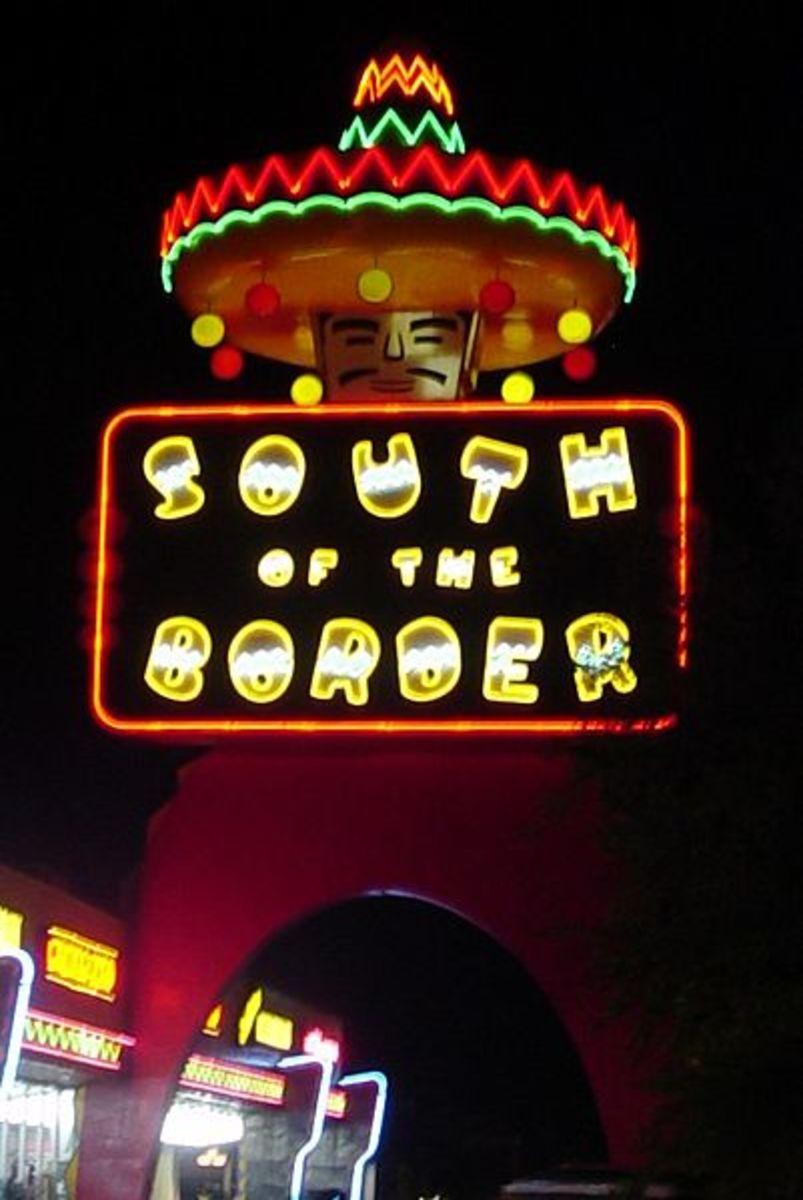 South of the Border sign, in Dillon, South Carolina