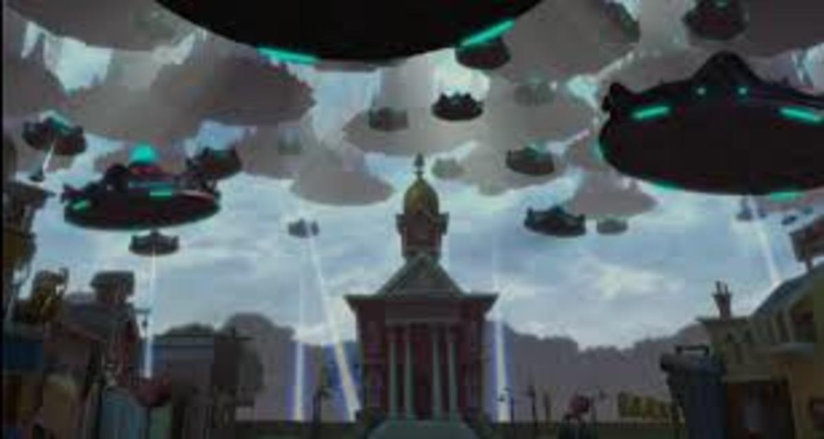 A massive alien invasion