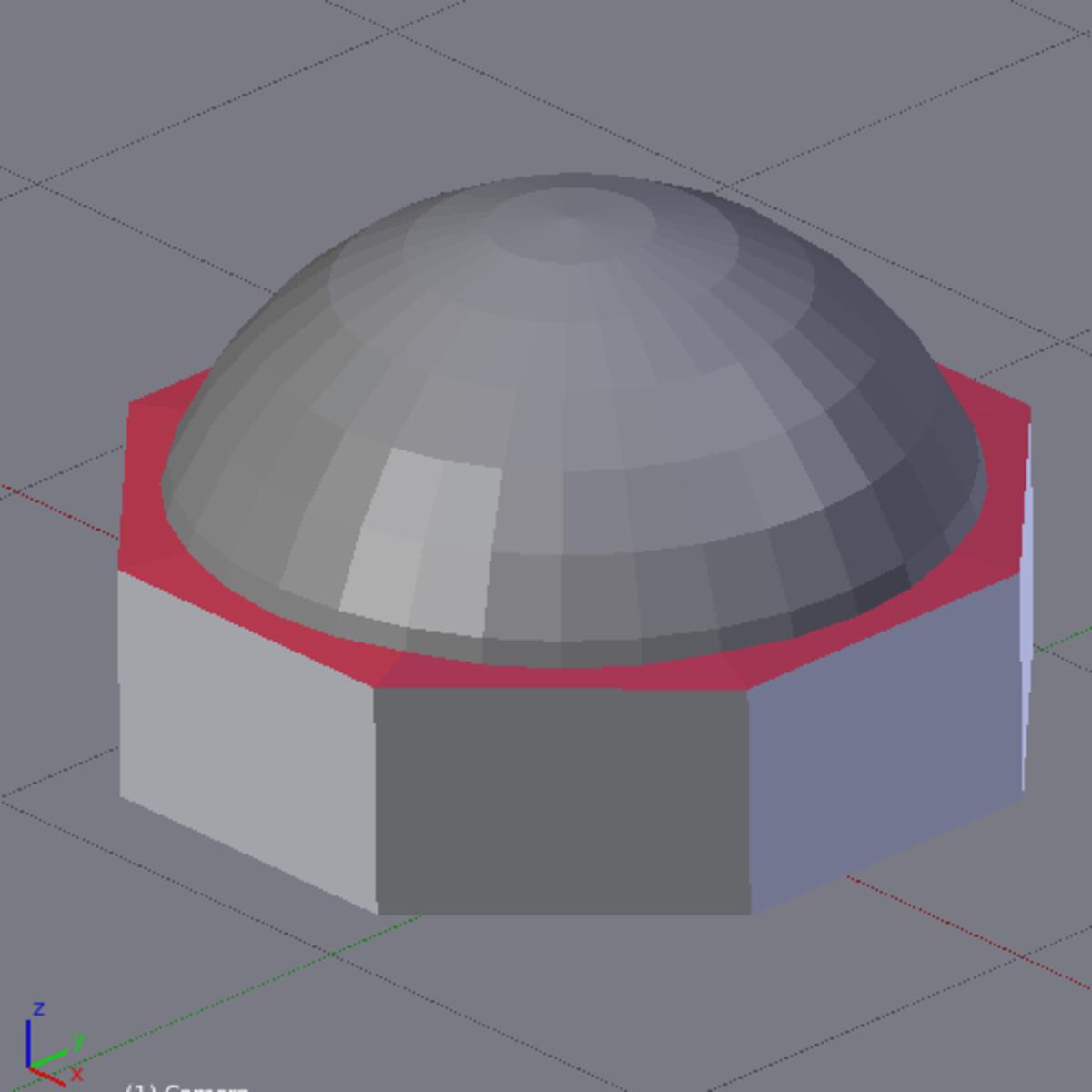 Figure E: The finished dome.