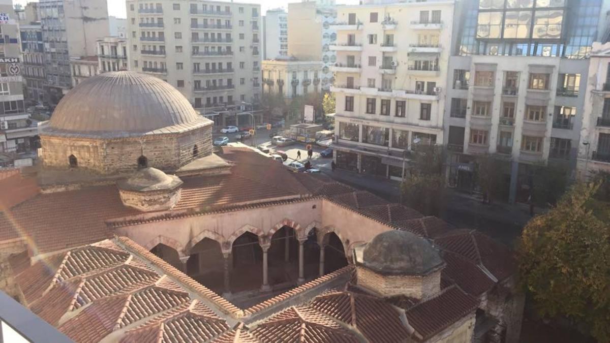 A Byzantine-styled octagonal dome.