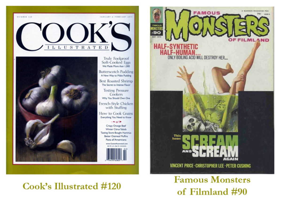 Cook's Illustrated #120 and Famous Monsters of Filmland #90
