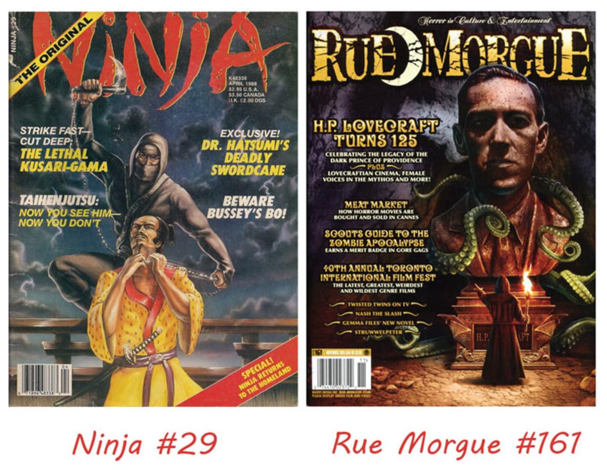 Ninja #29 and Rue Morgue #161