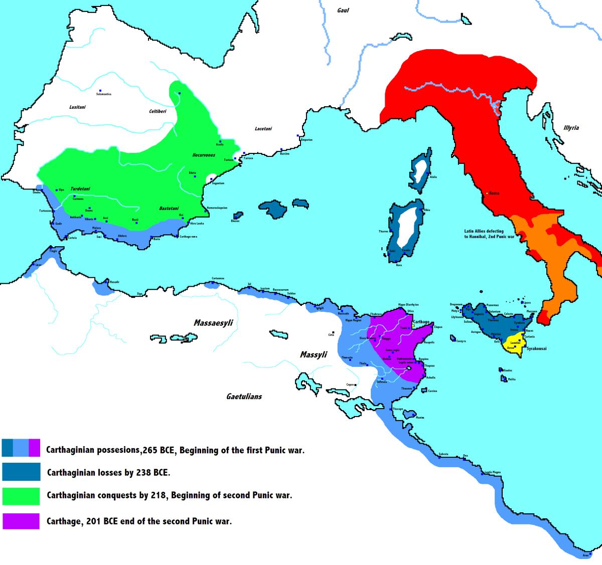 Carthaginian Empire and Roman Republic