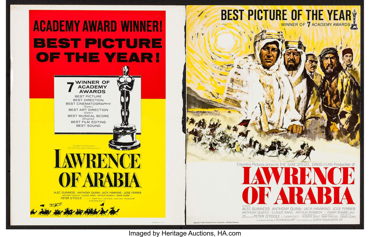 At the 35th Academy Awards, Lawrence of Arabia won seven Oscars, including Best Picture, Best Director, and Best Music Score.