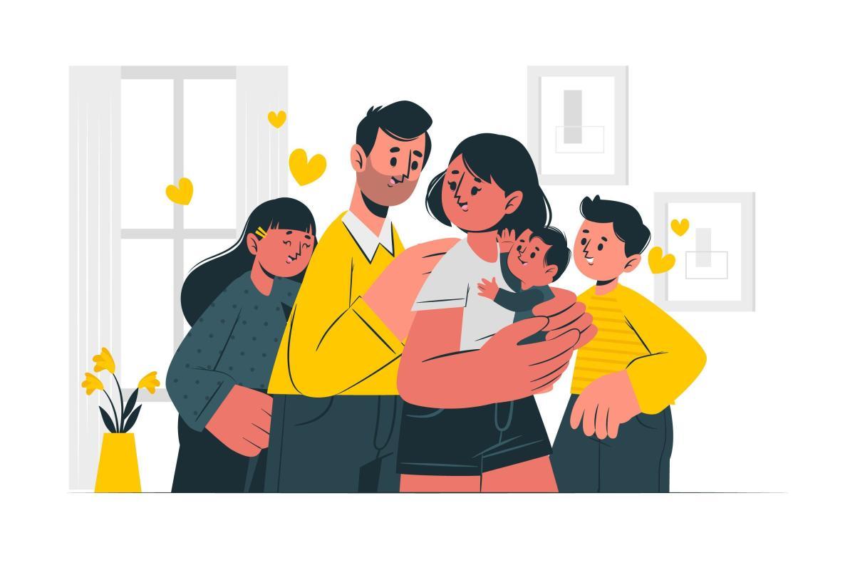 Happy mother, happy family.