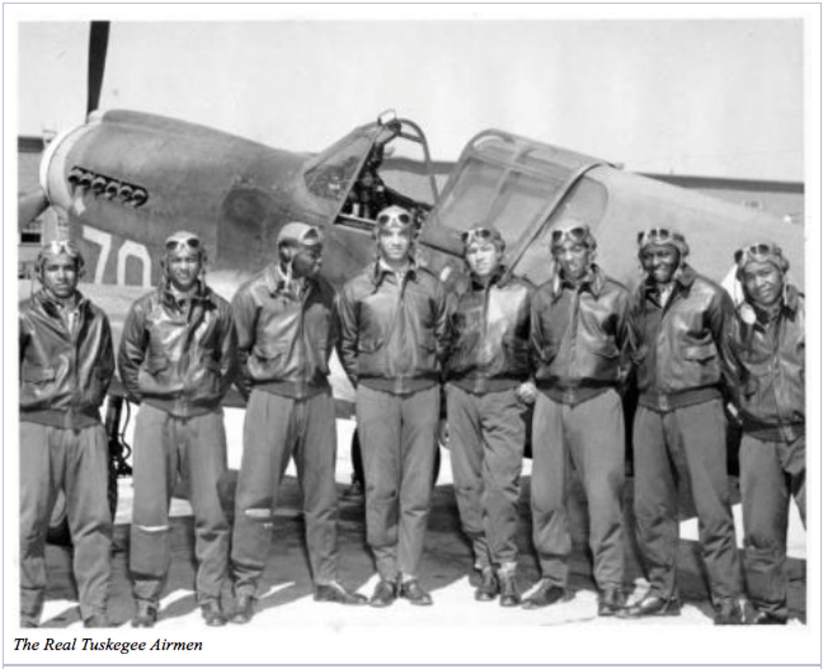 Lt. Col. Luke J. Weathers, Jr. was one of the Tuskegee Airmen.  He was an American fighter pilot just like the men pictured in this photo.