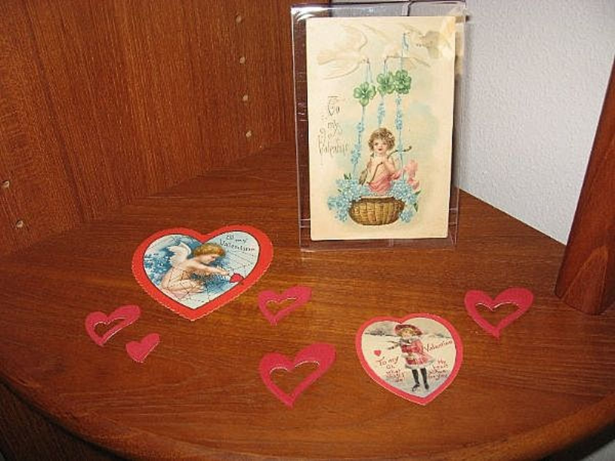 I feature my valentines on the entertainment unit shelves each February.