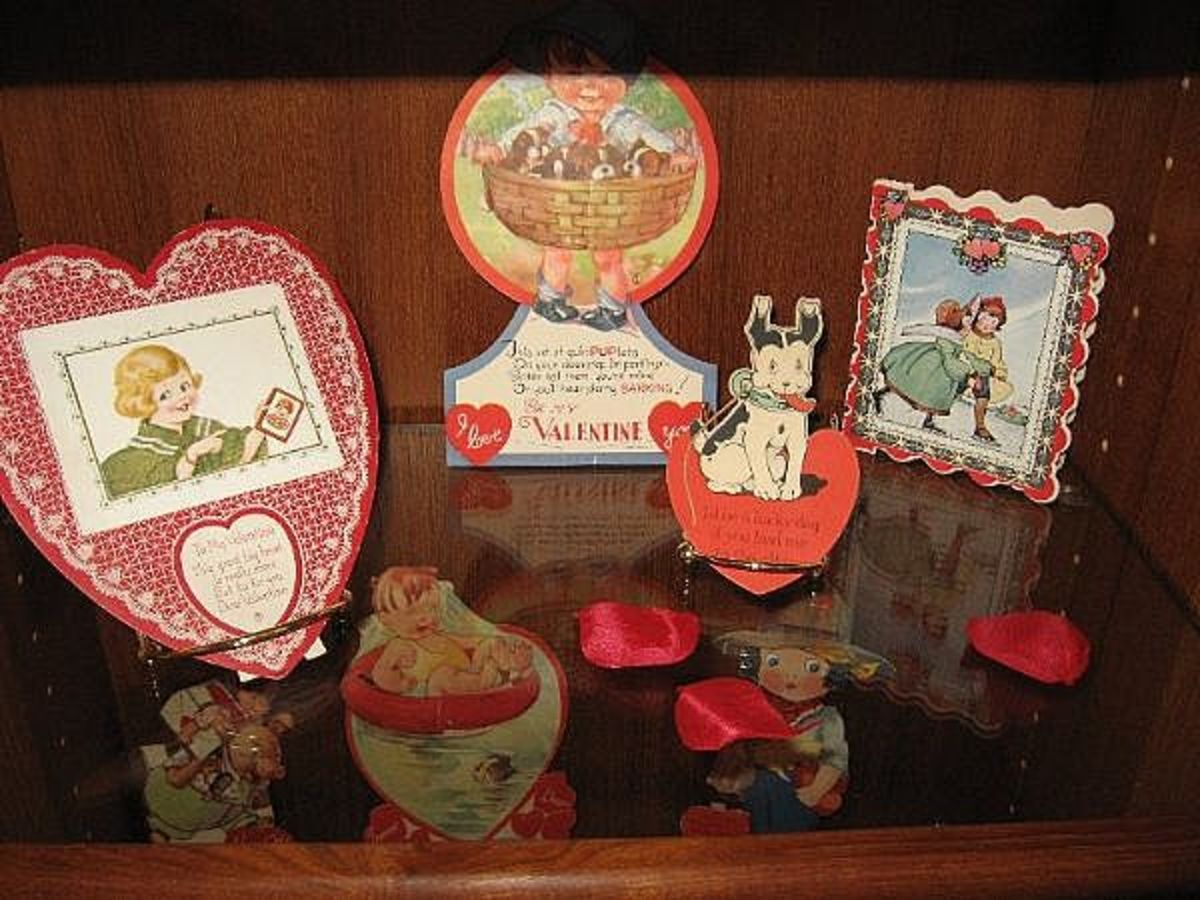 Sample vintage valentines from my own collection.