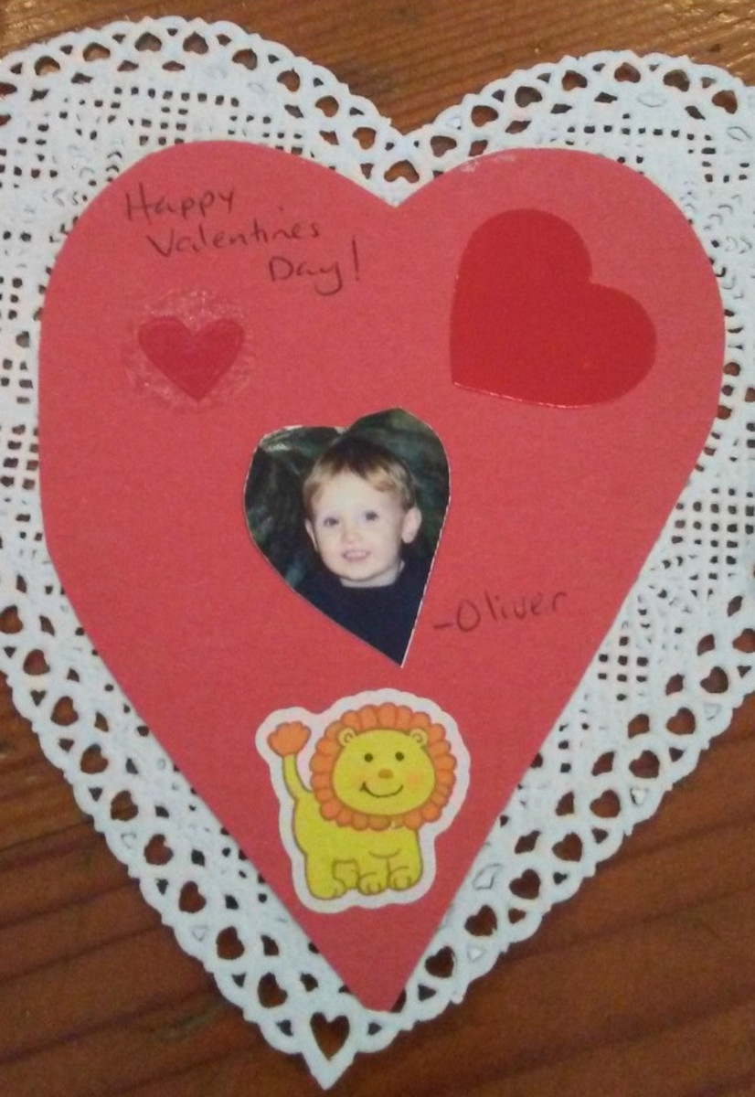 Youngsters can express love and creativity by making their own valentines.