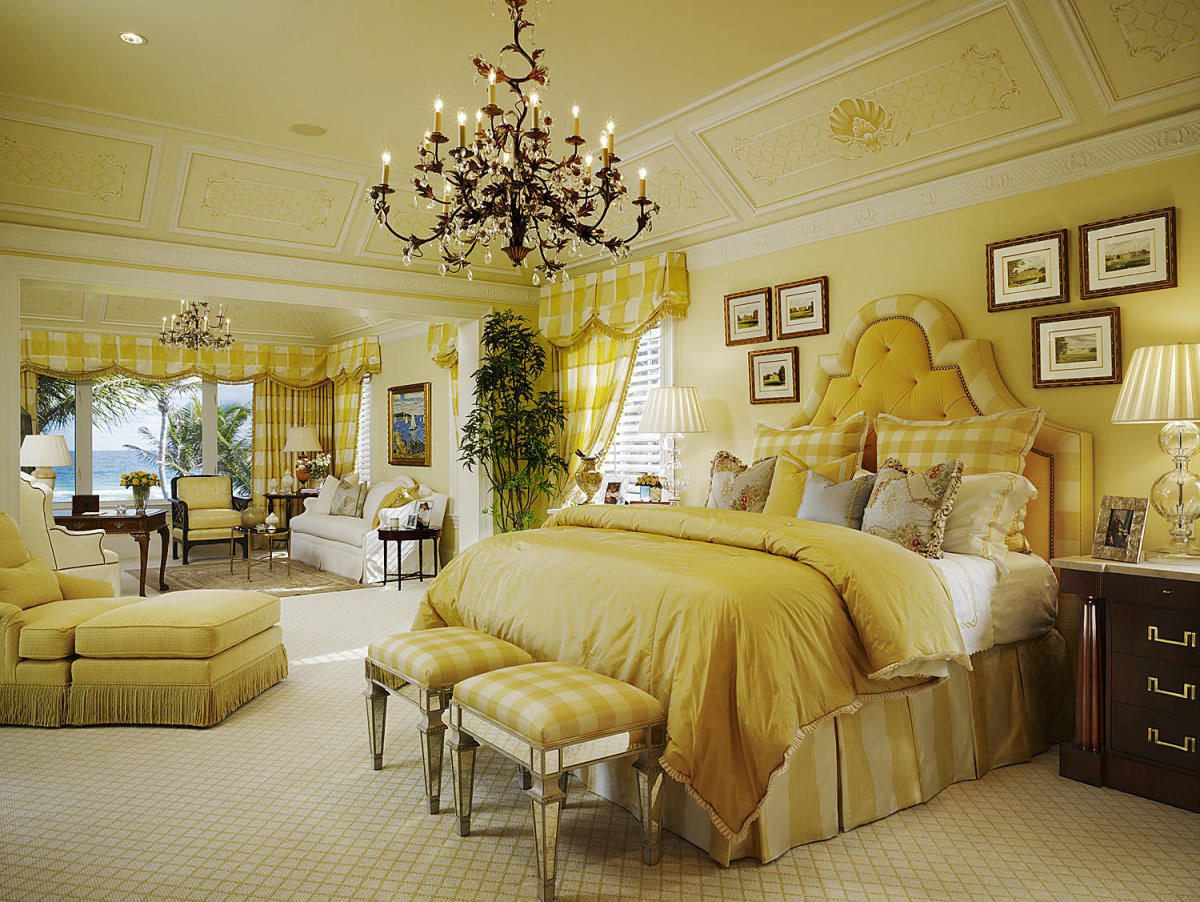 The bedroom should be opulent. It should look built for a king or queen. Leo is about royalty and lavish taste.